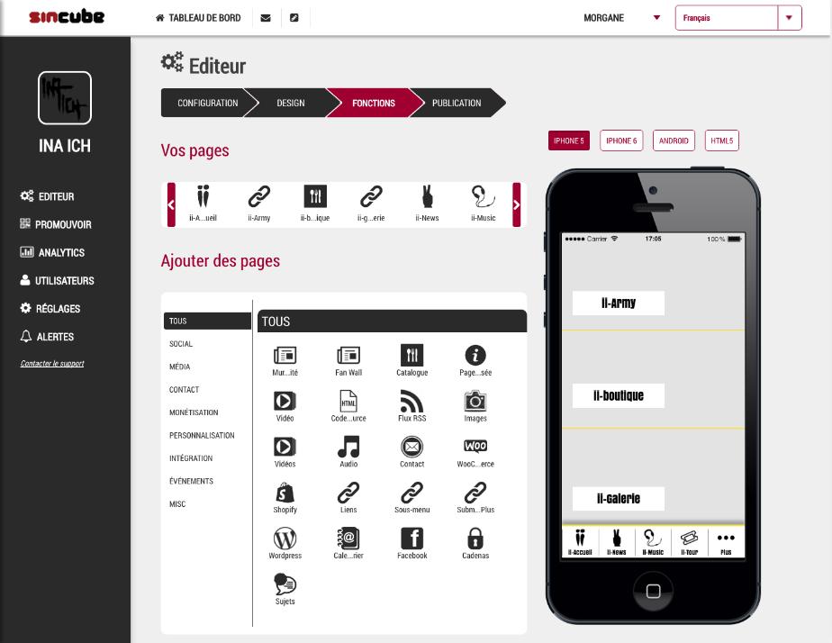 Plateforme dédiée création d'application mobile clé en main